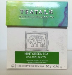Mint Green Tea sachets. Click for details