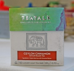 Ceylon Cinnamon  Pyramid Tea Bag Box. Click for details.