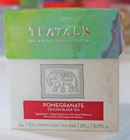 Pomegranate Pyramid Tea Bag Box